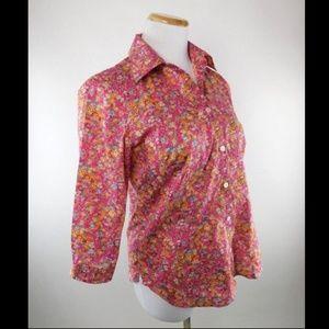 34ce6c41baf08 Saks Fifth Avenue Tops - Saks Fifth Avenue Liberty Fabrics Floral Blouse